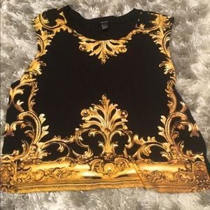 Versace style top